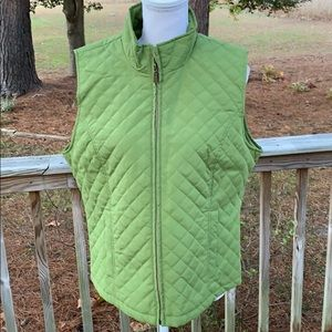 Nine West Light-Weight Quilted Vest Size L EUC